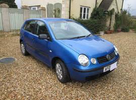 Volkswagen Polo, 2005 (05) Blue Hatchback, Manual Petrol, 119,000 miles