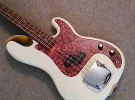 Stunning Gould Precision bass guitar
