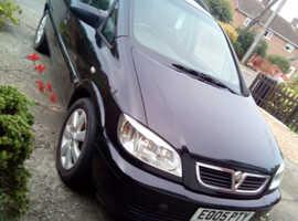 Vauxhall Zafira, 2005 (05) Black MPV, Manual Diesel, 150,000 miles