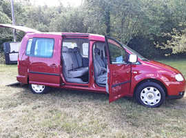 Automatic WAV VW Caddy Maxi C20 DSG 5 seats plus wheelchair or scooter low miles, Brotherwood conversion, 1.9Tdi Free delivery