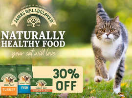 30% off James Wellbeloved cat food at Tailster Perks