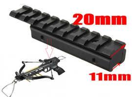 Pistol Crossbow Dovetail To 20mm Weaver Rail Laser Scope Mount Adaptor Converter.