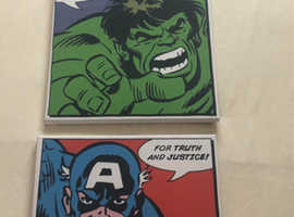 Set of 3 superhero wall canvases