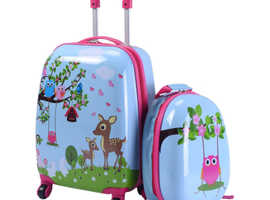 Costway Children's Animal print ABS Trolley Suitcase and Backpack Luggage 54827360