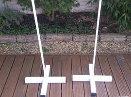 Balloon pedestals. (2) with 2- 3 ft poles and 2 -4 ft poles