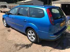 Ford Focus, 2006 (56) Blue Estate, Manual Petrol, 127,000 miles, MOT May 2020