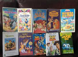38 CHILDRENS VHS TAPES FOR SALE INCLUDING MANY WALT DISNEY FAVOURITES