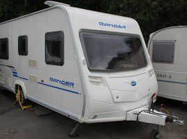 Bailey Ranger 460/4 Series 6 2010 4 Berth Fixed Bed Caravan + Full Dorema Awning + (Light Towing Weight)