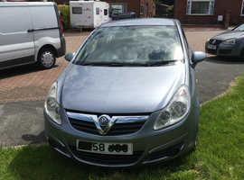 Vauxhall Corsa,2008 (58) Silver Hatchback, Manual Diesel, 132,000 miles