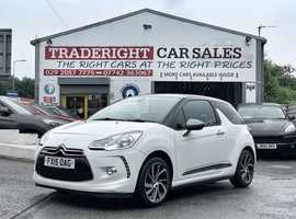 2015/15 Citroen DS3 1.2 D-Style + Pure-Tech finished in Arctic White with Gloss Grey Metallic. 40,027 miles