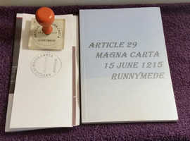 Article 29 magna  Carta 15th June 1215 Runnymede book & stamp