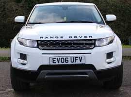 LHD Land Rover Range Rover Evoque, 2012 (62) White Estate, Automatic Diesel, 84,000 miles