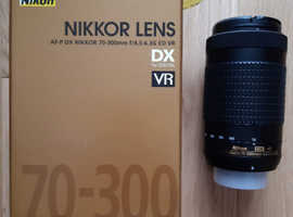 Nikon AF-P Nikkor 70-300mm F/4.5-6.3G DX ED VR Lens - Great Condition