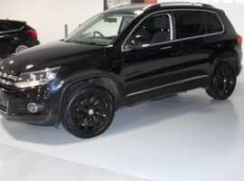 Volkswagen Tiguan, 2012 (12) Black Estate, Semi auto Diesel, 91,000 miles