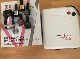 Mulee Nail UV lamp and nail varnishes