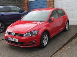 Volkswagen Golf, 2015 (15) Red Hatchback, Manual Diesel, 50,000 miles