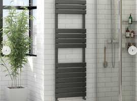 Anthracite grey heated towel rail