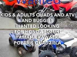 KIDS & ADULTS QUADS   WANTED?