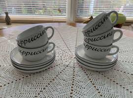 Set of cappucino cups