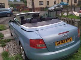 Audi A4, 2003 (03) Blue Convertible, Manual Petrol, 14,000 miles