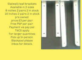 Shopfitting accessories pre owned .HOOKS,ARMS,BRACKETS
