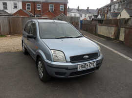 Ford Fusion, 2005 (05) Blue Hatchback, Manual Petrol, 129,325 miles