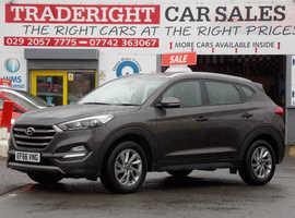 2016/66 Hyundai Tucson 1.7 CRDi Blue-Drive SE 2WD finished in Moon Grey Metallic., 42,795 miles