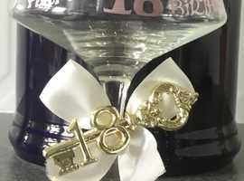 18th Birthday celebration drink glass for keep sake