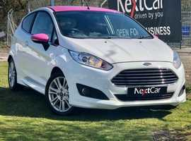 2014 Ford Fiesta 1.2 Zetec Edition Stunning Low Mileage Example, in White with Pink Accents