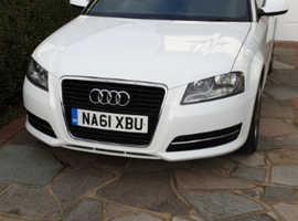 Audi A3, 2011 (61) White Convertible, Manual Petrol, 56,150 miles