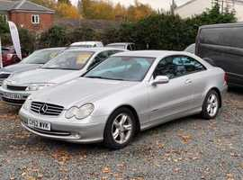 Mercedes Clk, 2003 (52) Silver Coupe, Automatic Diesel, 107,000 miles