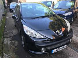 Peugeot 207, 2008 (08) Black Hatchback, Manual Petrol, 51,200 miles