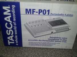 TASCAM MF -POi 4 TRACK TAPE RECORDING PORTASTUDIO .WITH TAPES
