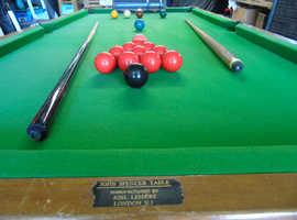john spencer 6x3 snooker table