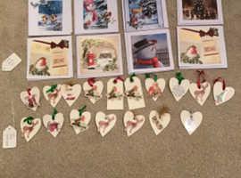 Christmas cards and gift tags homemade