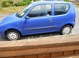 """FIAT Seicento1.1SX,2002 (52) 3 door blue hatchback, Manual Petrol, 53,831 miles including """"A"""" frame in Lowestoft"""