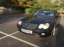Mercedes SL, 2004 (04) Black Coupe, Automatic Petrol, 119,689 miles