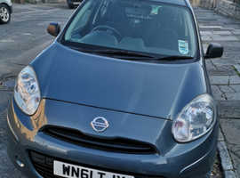 Nissan Micra, 2011 (61) Grey Hatchback, Manual Petrol, 38,700 miles