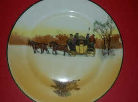 Antique royal doulton winter plate