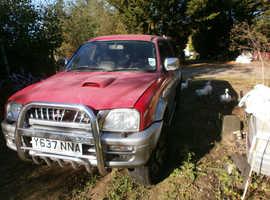 Mitsubishi L200, 2001 (Y) silver 4x4, Manual Diesel, 160000 miles