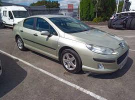 Peugeot 407 S, 2005 (05) Gold Saloon, Manual Diesel, 126,000 miles