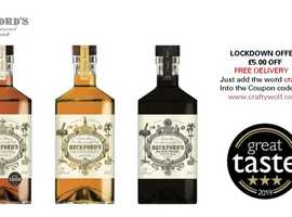 LOCKDOWN OFFER - FREE DELIVERY Beckford's Caramel or Spiced Rum