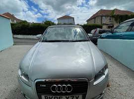 Audi A4, 2006 (06) Silver Convertible, Manual Diesel, 140,648 miles
