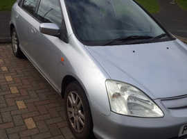 Honda Civic, 2002 (52) Silver, MOT FEB 2020 Hatchback, Manual Petrol, 133,000 miles