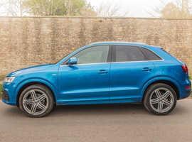 Audi Q3, 2015 (15) Blue 4x4, Automatic Diesel, 53,000 miles