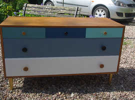 1960s Meredew 5 drawer chest of drawers