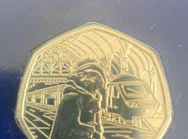 Paddington bear 50p coins carded uncirculated MINT