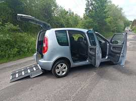 Wheelchair Adapted mobility Car Skoda Roomster Lewis Reed automatic petrol, free delivery, just 10000 miles,