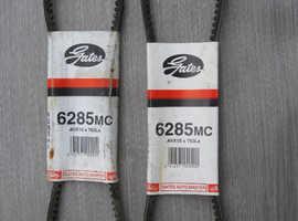2 NEW GATES AUTO MASTER DRIVE BELTS 6285MC AVX10 X 763LA