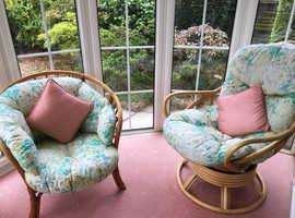 Four piece indoor wicker furniture set
